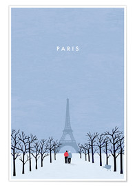 Poster  Illustration Paris - Katinka Reinke