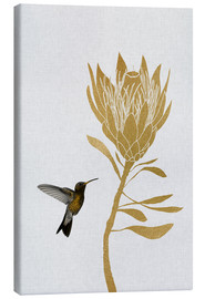 Toile  Hummingbird & Flower I - Orara Studio