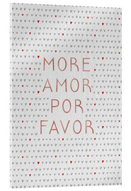 Tableau en verre acrylique  More Amor Por Favor Rose Gold - Orara Studio