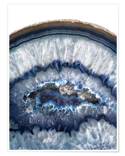 Poster Agate bleue glacée