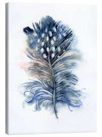 Tableau sur toile  Feather blue - Verbrugge Watercolor