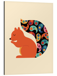 Alu-Dibond  Paisley Squirrel - Andy Westface