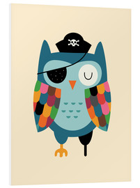 Tableau en PVC  Capitaine Hibou - Andy Westface