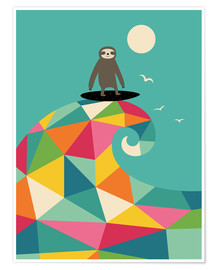 Poster  Surfer sur la vague - Andy Westface