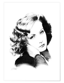 Poster Diva hollywoodienne - Greta Garbo