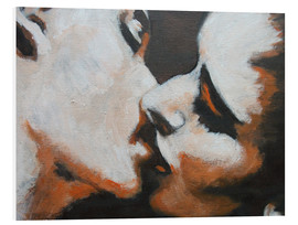 Tableau en PVC  Lovers -  Kiss 6 - Carmen Tyrrell