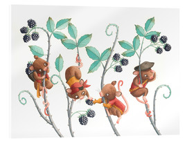 Verre acrylique  Pirate mice - Leonora Camusso