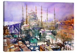 Tableau sur toile  Istanbul, view to the blue mosque - Johann Pickl