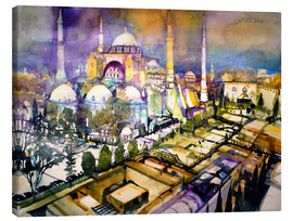 Tableau sur toile  Istanbul, view to the Hagia Sophia mosque - Johann Pickl