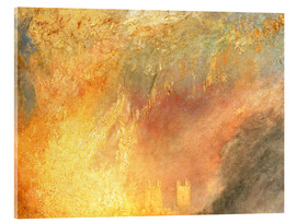 Tableau en verre acrylique  Burning of the Houses - Joseph Mallord William Turner