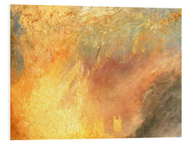 Tableau en PVC  2016 01 Joseph Mallord William Turner English   The Burning of the Houses of Lords and Commons Octob - Joseph Mallord William Turner