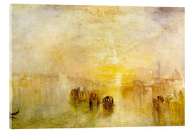 Tableau en verre acrylique  Aller au bal (San Martino) - Joseph Mallord William Turner