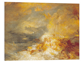 Tableau en PVC  Incendie en mer - Joseph Mallord William Turner