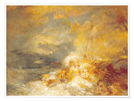 Poster  Incendie en mer - Joseph Mallord William Turner