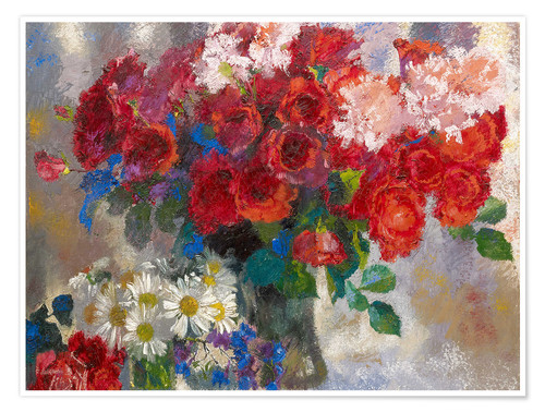 Poster Roses rouges