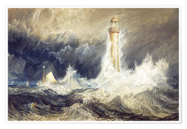 Poster  Bell Rock Lighthouse - Joseph Mallord William Turner