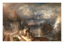 Poster  La séparation de Hero et Leander - Joseph Mallord William Turner