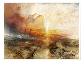 Poster  Le navire négrier - Joseph Mallord William Turner