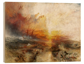 Tableau en bois  Le Négrier - Joseph Mallord William Turner