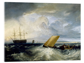 Tableau en verre acrylique  Sheerness as seen from the Nore - Joseph Mallord William Turner