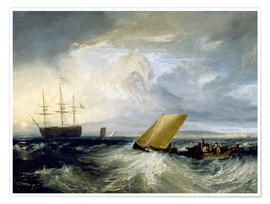 Poster Joseph Mallord William Turner   Sheerness as seen from the Nore   Google Art Project