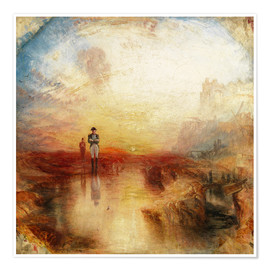 Poster  Guerre et exil - Joseph Mallord William Turner