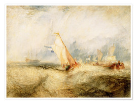 Poster Joseph Mallord William Turner (British   Van Tromp, Going About to Please His Masters   Google Art P