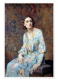 Poster  Portrait d'une dame - Albert Henry Collings