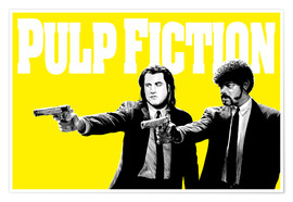 Poster  Pulp Fiction Yellow BANG - Paola Morpheus