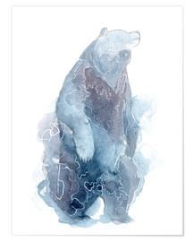 Poster Watercolor Standing Bear