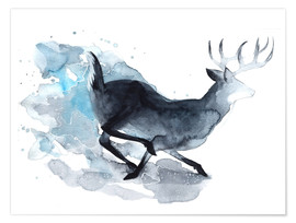Poster Watercolor Deer