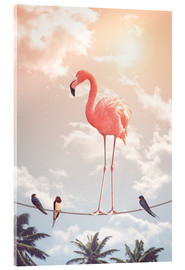 Verre acrylique  FLAMINGO & FRIENDS - Jonas Loose