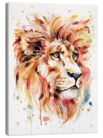 Toile  All Things Majestic (Lion) - Sillier Than Sally