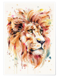 Poster  All Things Majestic (Lion) - Sillier Than Sally