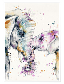 Poster  That Type Of Love (elephants) - Sillier Than Sally