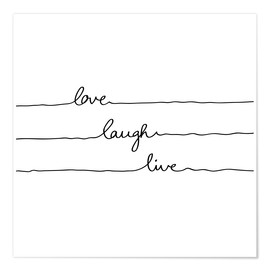 Poster  Love Laugh Live - Mareike Böhmer