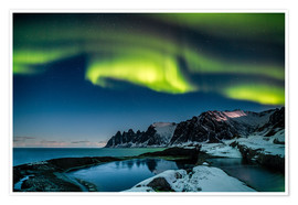 Poster Aurora Borealis above the island of Senja (Northern Norway)