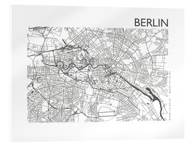 Verre acrylique  Plan de la ville de Berlin - 44spaces