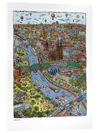 Tableau en verre acrylique  Cologne - Cartoon City
