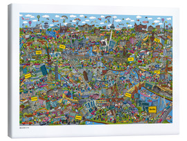Tableau sur toile  Berlin - Cartoon City