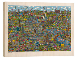 Tableau en bois  Berlin - Cartoon City