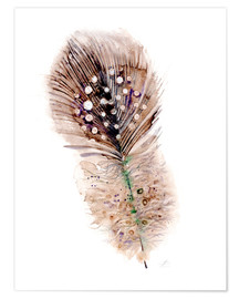 Poster  Plume marron - Verbrugge Watercolor
