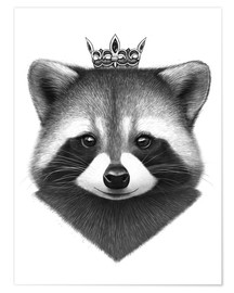 Poster Queen raccoon