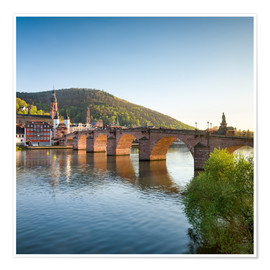 Poster  Heidelberg Old Bridge in spring, Baden-Wurttemberg, Germany - Jan Christopher Becke