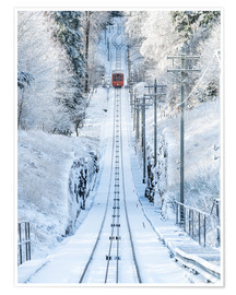 Poster  Historic mountain railway in Heidelberg, Baden-Wurttemberg, Germany - Jan Christopher Becke