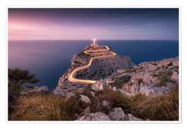 Poster Evening light at Cap Formentor (Mallorca / Spain)