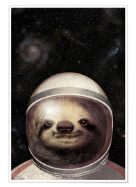 Poster  Space Sloth Poster Lounge - Eric Fan