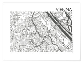 Poster  Plan de la ville de Vienne - 44spaces