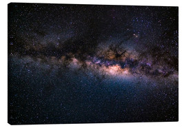 Toile  The Milky Way galaxy, details of the colorful core. - Fabio Lamanna