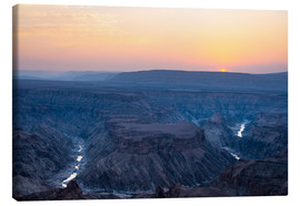 Tableau sur toile  Fish River Canyon at sunset, travel destination in Namibia - Fabio Lamanna